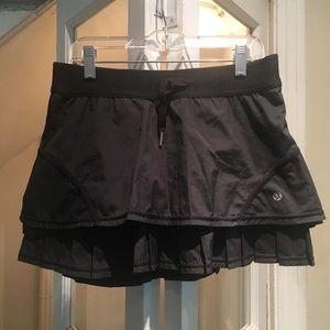 Lululemon Black Skort Size 4